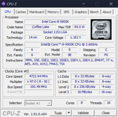 The CPU-Z Window